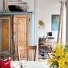 Mueble envejecido en azul
