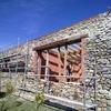 Muro de petacas de hormigon 25x2 metros, suncho de hormigon ya hecho