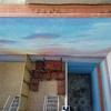 Nuevo mural y vista desde terraza de la finca
