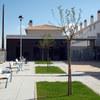 Plaza pública que rodea la promoción en Utebo