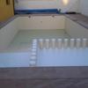 Proyecto de de piscina con zona de niños con cambio de color