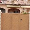 Puerta aluminio imitación madera