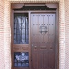 Puerta de calle rústica acabado suave