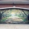 Puerta de garaje pintada