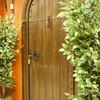 Puerta de madera de medio punto