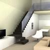 Recreación 3D de escalera