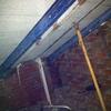 Buhardilla en demolicion de palomeros e instalación de estructura de apoyo