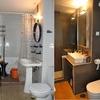 Cuarto de baño. Antes y después.