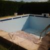 Reforma de piscina antes