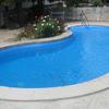 Reforma de piscina con revestimento de tela armada