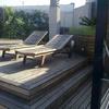 Restauración tarima Ipe y mobiliario de Teka