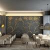 Suelo interior de restaurante y terraza del mismo