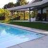 Construir solera de 1,80 x 3,20 m en jardín