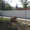 Construir y revestir muro patio