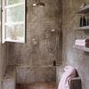 Baño rústico y natural