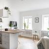 salón estilo nórdico con plantas naturales