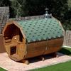 Sauna de leña en el jardín posterior