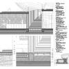 Sección construcitva en rampas de acceso y cafetería