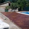 Solera de hormigon impreso en Piedralaves, Avila.