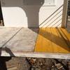 sustitución de los paneles afectado por otros de madera laminada preparada para la intemperie