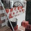 Tabicando muro lateral con ladrillo termoarcilla