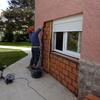 tapar la  puerta del garaje  reemplazarla por una ventana