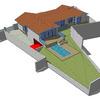 Terrazas, piscina y jardín