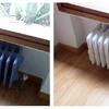 Trabajos de pintura sobre radiador de fundición