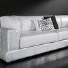 Tapizar asiento sofá de piel blanco