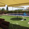 Plataforma cemento a nivel para piscina desmontable
