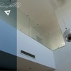 Vista de barandillas de cristal realizadas en casa de Albal
