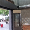 Vista de cerramiento de tres hojas + cajón de persiana de local