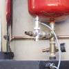 Vista de vaso de expansión y sonda de temperatura