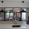 Vista desde cocina a salón-comedor