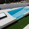 Vista general de la piscina des de la terraza de planta primera