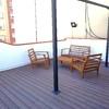 Zona terraza elevación y montaje de suelo nuevo