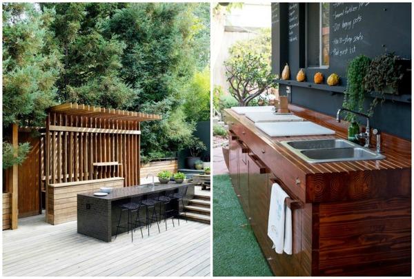 Cocinas abiertas o cerradas ideas construcci n casas for Cocina exterior jardin