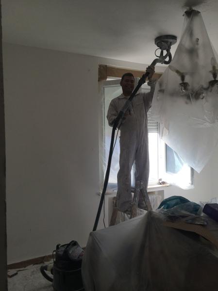 Qu costar a alisar paredes de gotele y pintar habitissimo - Pintar paredes con gotele ...