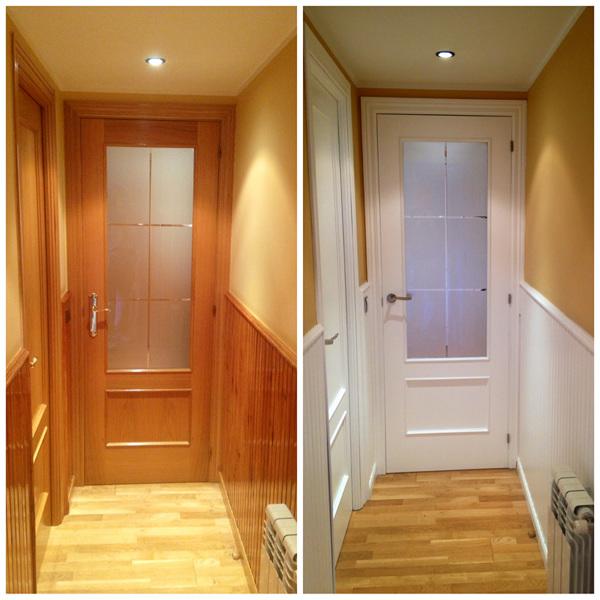Lacar puertas en blanco o comprar nuevas blancas for De que color puedo pintar los marcos de las puertas