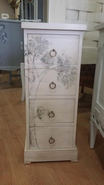 C mo pintar un mueble para que tenga un efecto envejecido for Lacar muebles en blanco