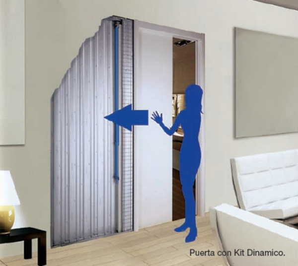 Puerta corredera de cristal en la cocina habitissimo - Puertas correderas para cocinas ...