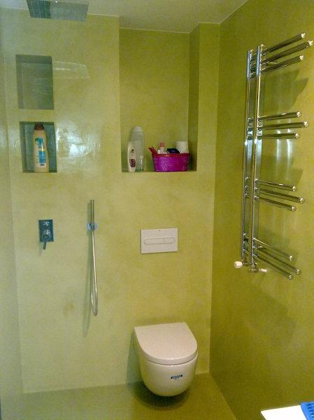 Se puede poner microcemento sobre baldosas en un ba o - Papel para azulejos de bano ...