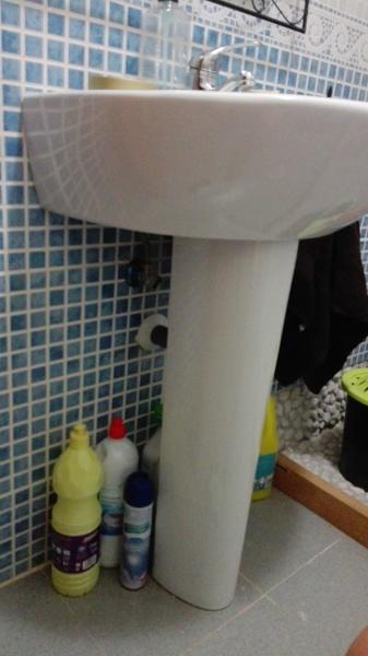 Puedo quitar el pi del lavabo sin que pase nada for Lavabo sin pie