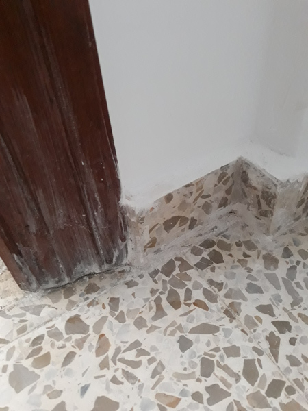¿Está bien la restauración de este suelo de terrazo?
