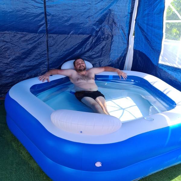 ¿Puede pasar algo por instalar esta piscina?