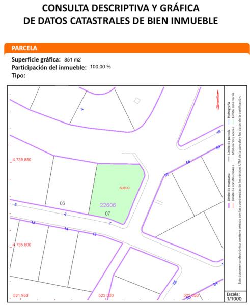 ¿Cuál es la superficie real sobre estos planos de una parcela?