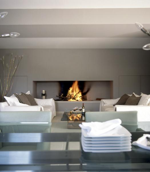 Presupuesto puertas chimenea online habitissimo for Salones minimalistas con chimenea
