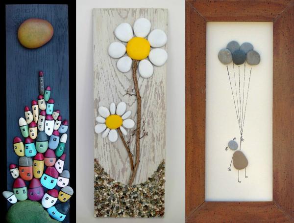 C mo puedo hacer cuadros con piedras habitissimo - Cuadros pequenos para decorar ...