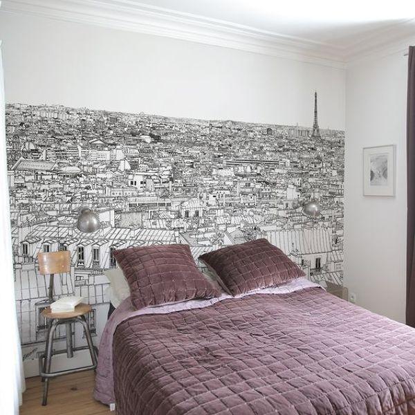 De qu marca es el papel de la pared con un dibujo de for Precio papel pared