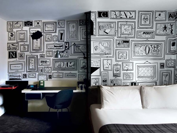conoc is de alg n papel de pared en blanco y negro con